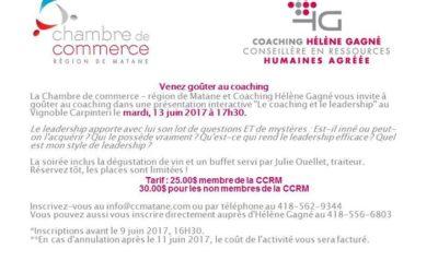 Dernière activité avant l'été avec Coaching Hélène Gagné – CRHA. Hâtez-vous, les…