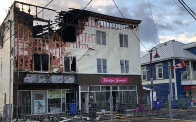 Incendie majeur au centre-ville de Matane