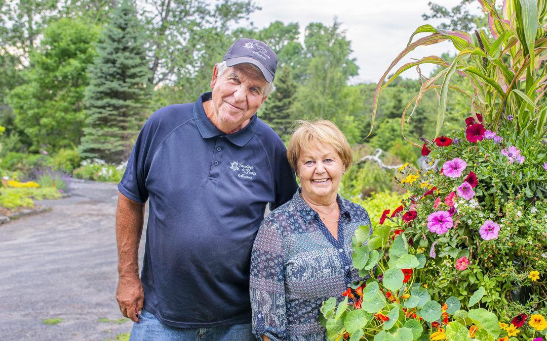 Deux anniversaires d'exception fêtés par Sylvain et Doris Ross aux Jardins de Doris de Matane