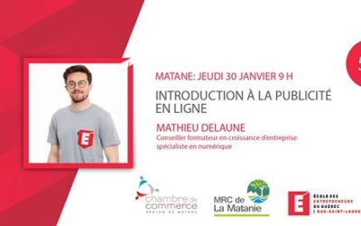 Matane: Introduction à la publicité en ligne