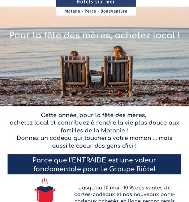 Le Groupe Riôtel/Riotel Hospitality Group Matane lance une campagne pour la fête…